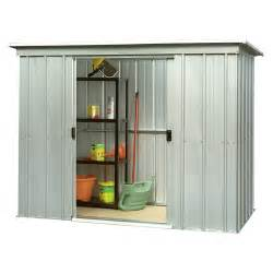 8 x 4 yardmaster pent metal shed with floor support kit