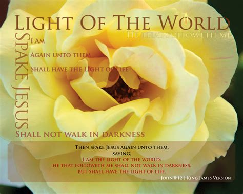Jesus Is The Light That Shineth In Me Lyrics prints light of the world