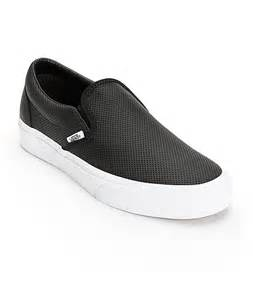 vans classic perforated leather slip on shoes at zumiez pdp