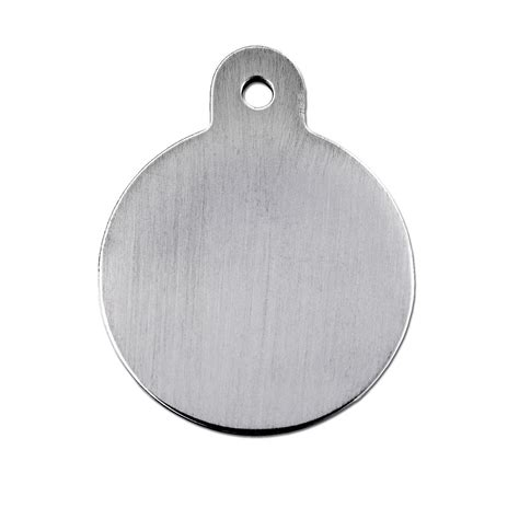 petco tags tag brushed chrome circle personalized engraved pet id tag large petco
