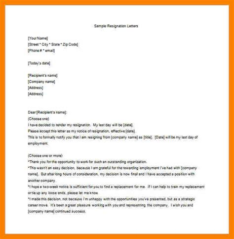 Letter To Hr After Resignation Resignation Letter Sle For Employee Unhappy Employee Resignation Letter Word Free