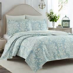 Laura Ashley Comforters Laura Ashley Rowland Blue Quilt Set From Beddingstyle Com