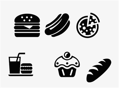 logo black and white vector black and white fast food logo black vector food