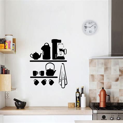 adesivo de parede cozinha cantinho  cafe