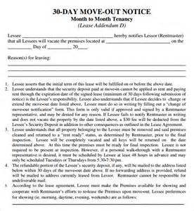 30 Day Eviction Notice Template by 24 Free Eviction Notice Templates Excel Pdf Formats