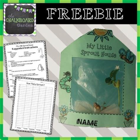 Printable Sprout House | my little sprout house printable by the chalkboard garden