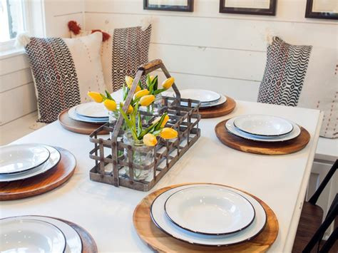 Kitchen Table Setting Container Gardening Ideas From Joanna Gaines Hgtv S Decorating Design Hgtv