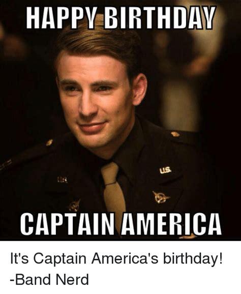 Nerd Birthday Meme - happy birthday us captain america it s captain america s