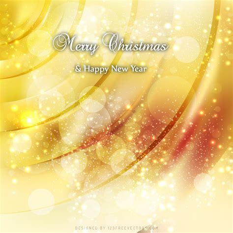 merry christmas  happy  year yellow background freevectors