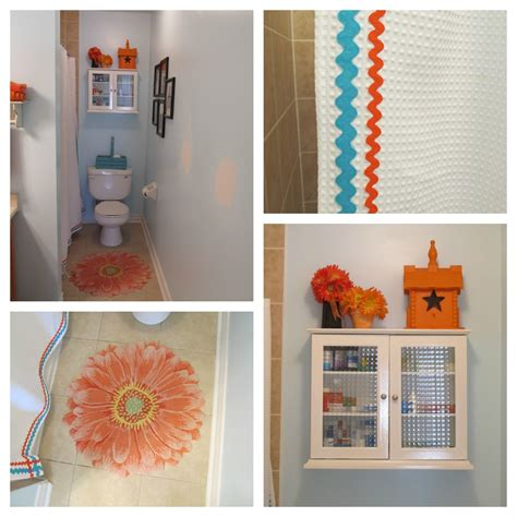 orange and turquoise bathroom queen b creative me turquoise stenciled walls in the