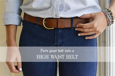 how to make waist how to make a high waist belt