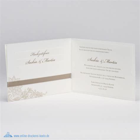 Elegante Hochzeitseinladungen by Elegante Hochzeitseinladung Mit Spitzenmotiv