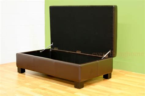 dark brown leather ottoman coffee table dark brown large rectangle bonded leather storage ottoman