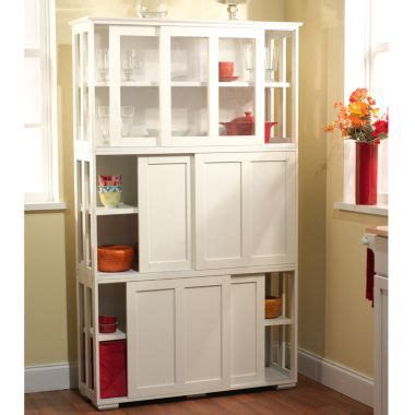Kitchen Cabinet Stackable Storage Units Jcpenney   jcp sliding door storage unit 179 each for the home