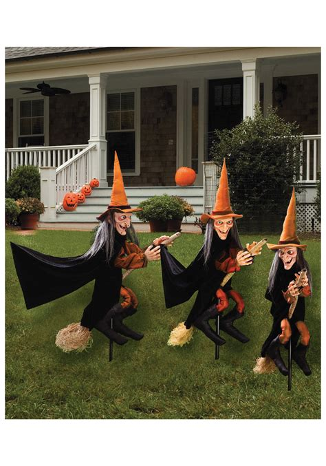 home lawn decoration witchly set of three