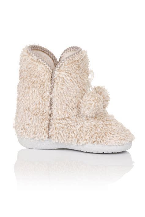 comfy slipper boots womens faux fur ankle slipper boots