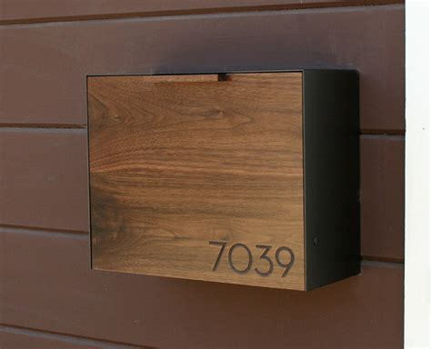stainless steel mailbox modern mailbox large walnut and stainless steel mailbox wall