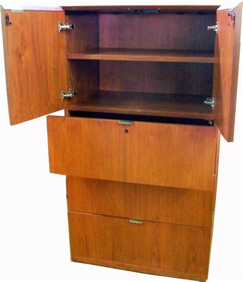 Locking Mechanisms For Cabinets by Lateral Executive Storage Cabinet W Anti Tip Locking