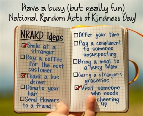 Ideas For A Fun And Feel Good Day. Free National Random