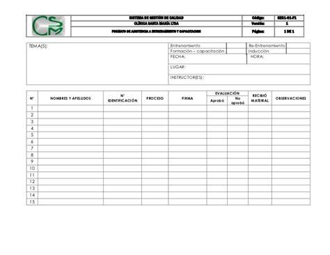 formato lista asistencia preescolar formato de lista de asistencia lista de asistencia