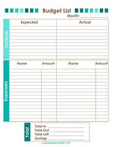 Budget List For Bills Template Saving Money Amp Stores Archives