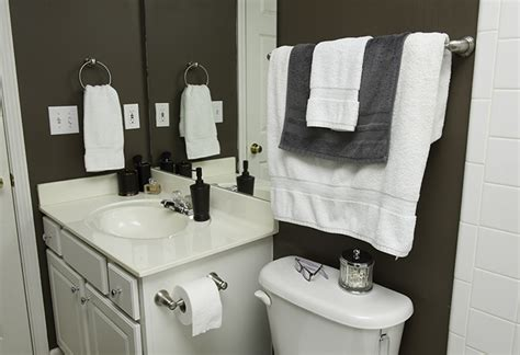 where to install towel bar in bathroom techniques to install bath accessories at the home depot