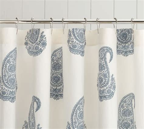 shower curtain paisley rayna paisley shower curtain pottery barn