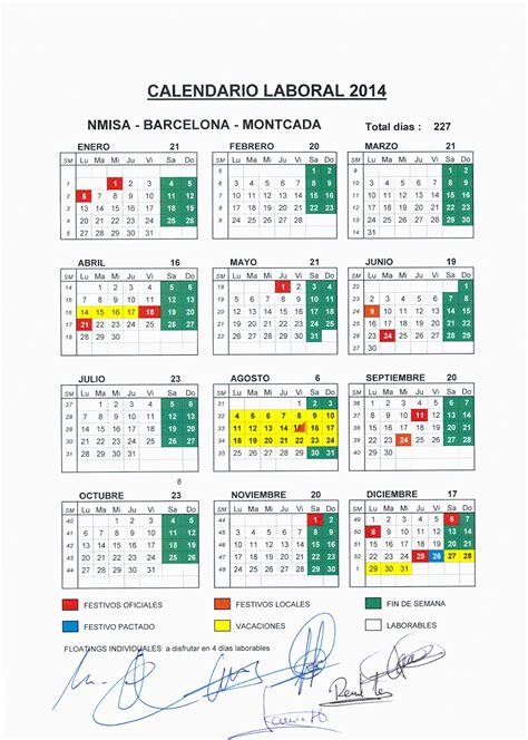 barcelona calendario laboral 2014 ugt nissan diciembre 2013