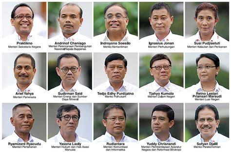ini daftar nama susunan menteri kabinet jokowi jk 2014 nama nama menteri kabinet kerja hiburan metrotvnews com