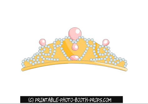 photo booth crown printable free printable princess party photo booth props