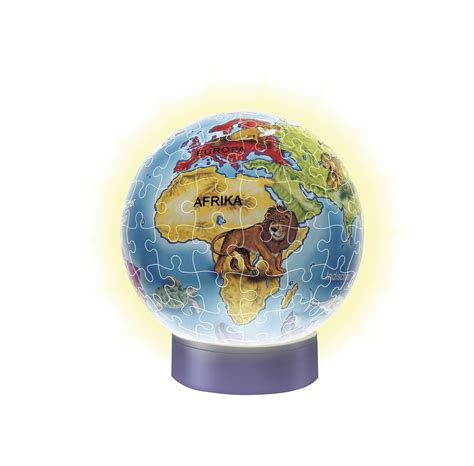 Kigumi World Globe 3d Puzzle 3d jigsaw puzzle with led the children world globe