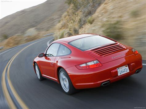porsche 911 back 2007 red porsche 911 carrera 4 wallpapers