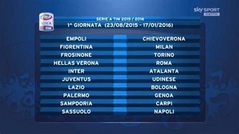 C Calendario Serie A Calendario Serie A Ecco Tutte Le Giornate Tuttosport
