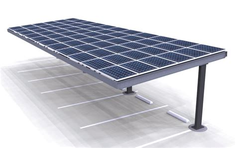 carport solar solar single column single carport structures corp