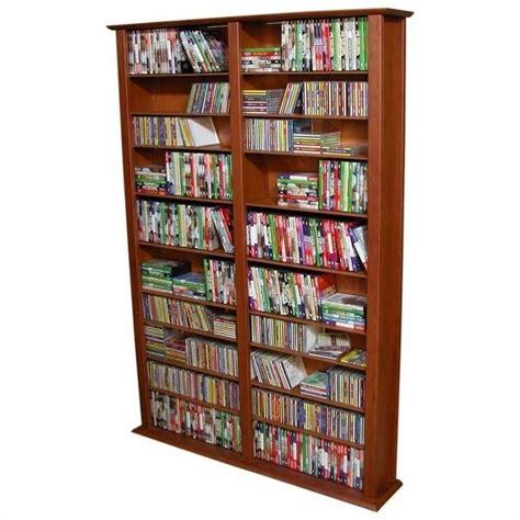 wall dvd shelf venture horizon double 76 quot tall cd dvd wall rack media
