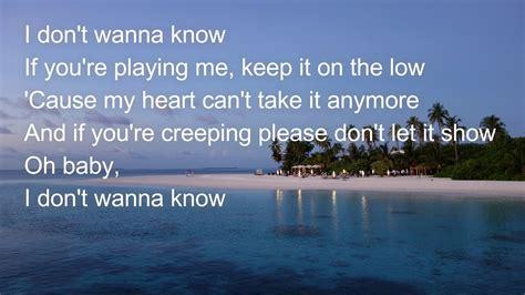 Charlie Puth I Don T Wanna Know Lyrics | charlie puth i dont wanna know lyrics youtube