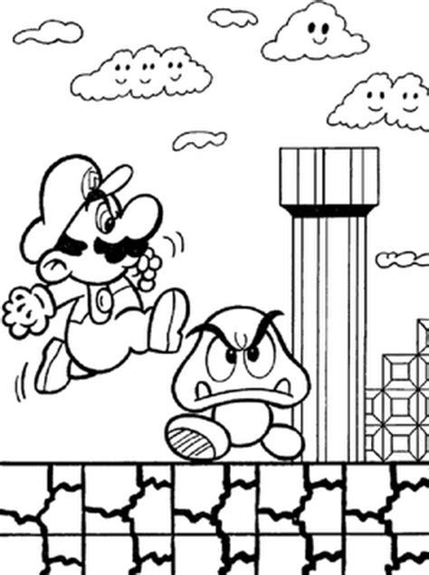 Fazendo a Nossa Festa - Colorir: Mario Bros - Imagens para
