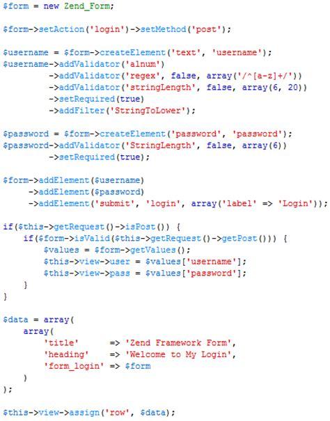 membuat aplikasi web dengan zend framework membuat form di zend framework 1