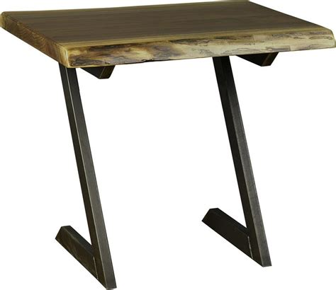 amish live edge table soho amish end table with live edge