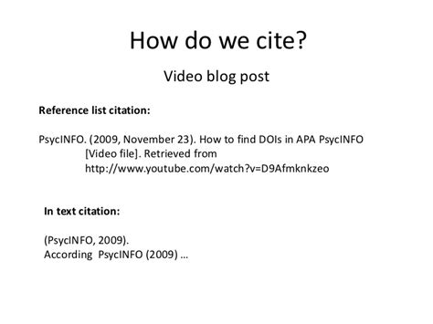 apa style format youtube video cite it right eslw05