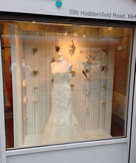 Wedding dress shop window @ Alison Jane Bridal   Mirfield