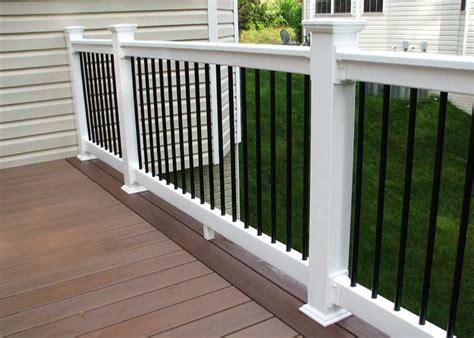 vinyl porch railing kits ideas home interior exterior