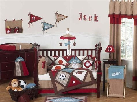 sports themed nursery all star sports baby bedding 9 pc crib set only 189 99