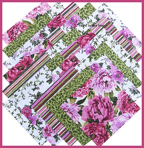 northcott beautiful blossoms 6 5 quot fabric quilting squares