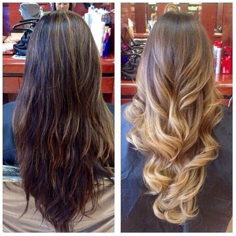 where to place foils for ombre before pic is partial highlights that were done by heather