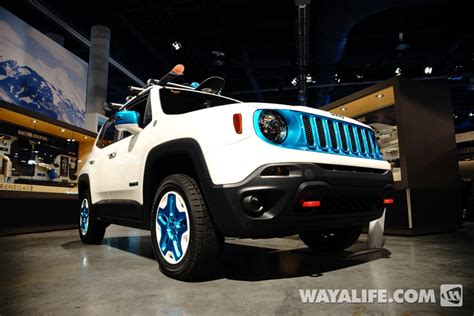 jeep renegade trailhawk lifted 2014 sema show jeep renegade trailhawk frostbite