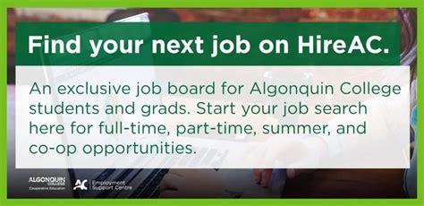 Algonquin College Letter Of Acceptance Cus Employment Support Centre Algonquin College Pembroke Cus