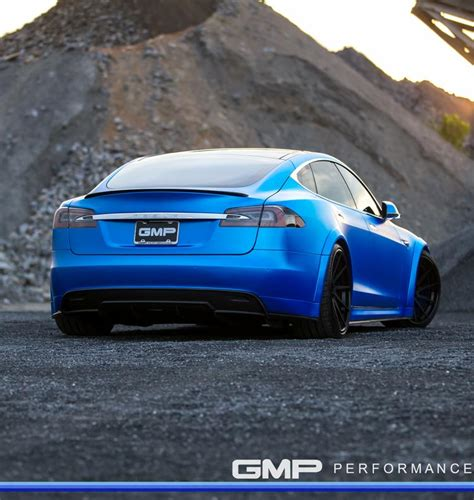 Tesla Blue Matte Blue Tesla Model S By Gmp Performance