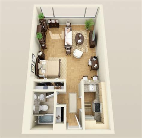 Garage Apartments Plans by Planos De Apartamentos Peque 241 Os De Un Dormitorio Dise 241 Os