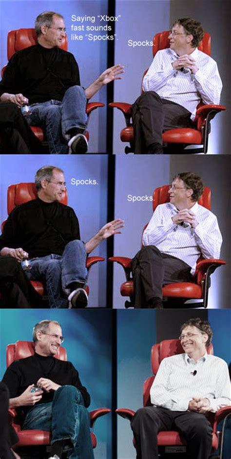 Steve Jobs And Bill Gates Meme - steve jobs vs bill gates comic meme collection 1